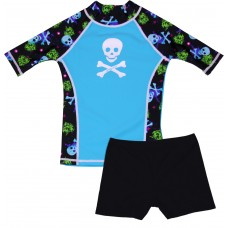 Bonehead Swim Shirt and Short Shorts Set